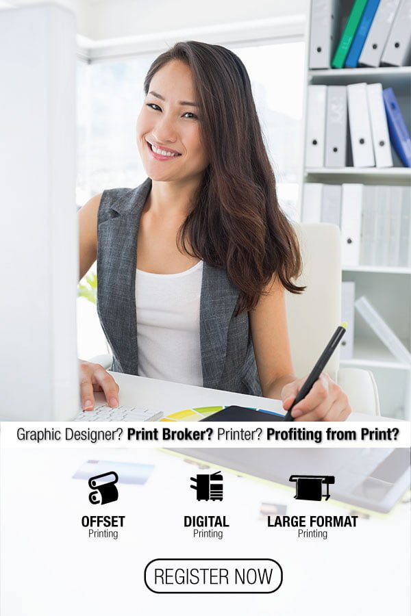 Print licensing program. Resell offset printing, digital printing and large format printing.