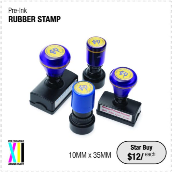 Pre ink Rubber Stamp
