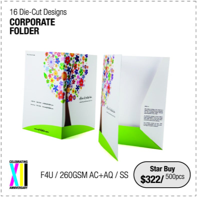 Corporate folder or personalised folder