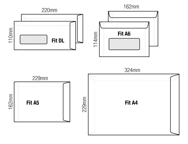 Envelope singapore printing services direct factory for Double window envelope template